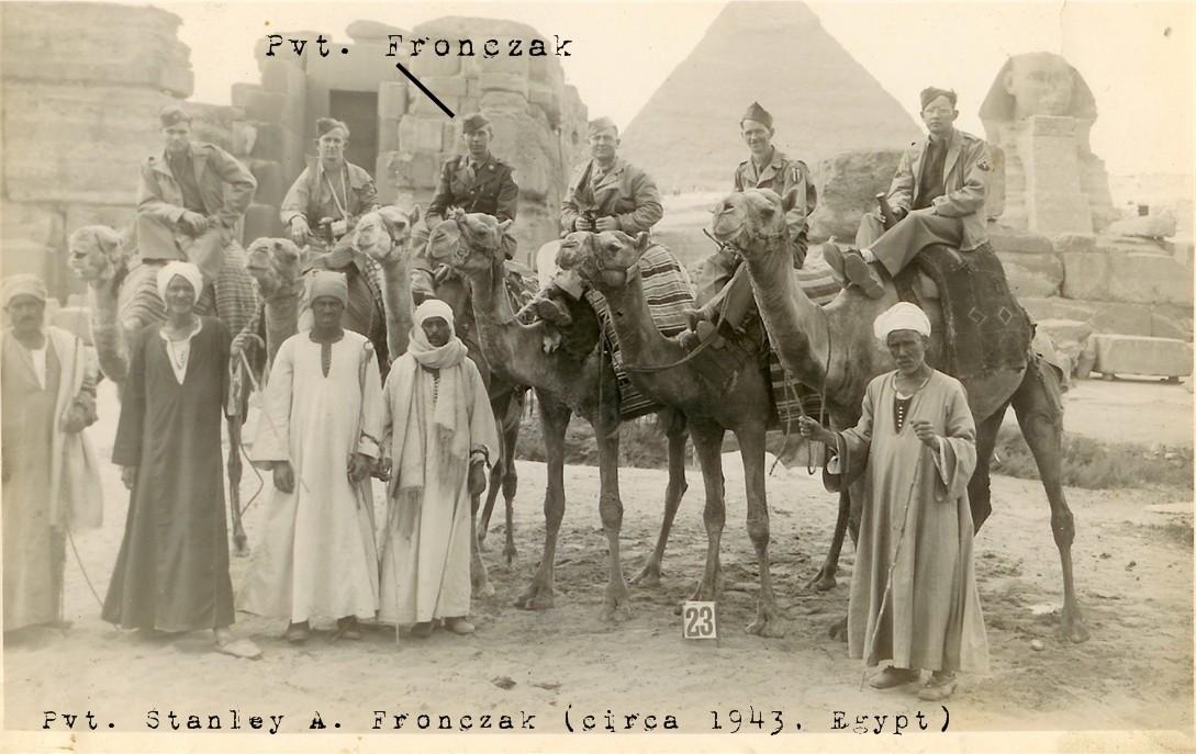 Pvt. Stanley A. Fronczak - Egypt 1943